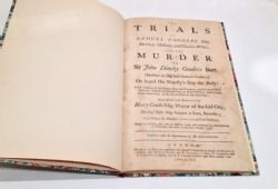 The Trials of Samuel Goodere Esq Rebound Hardcover 1741 printed for A Millar